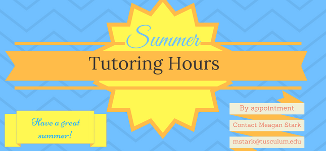 Tutoring summer hours 2017