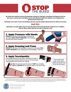 Stop the Bleed - Save a Life Infographic